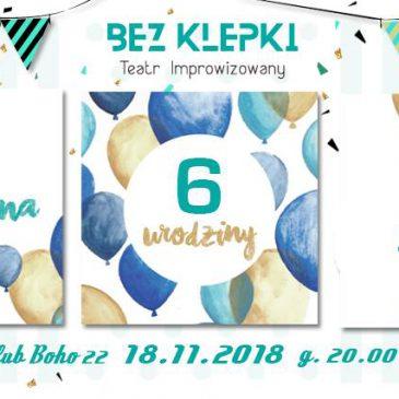 6-te Urodziny BezKlepki!!! Świętujcie z nami 18 listopada!